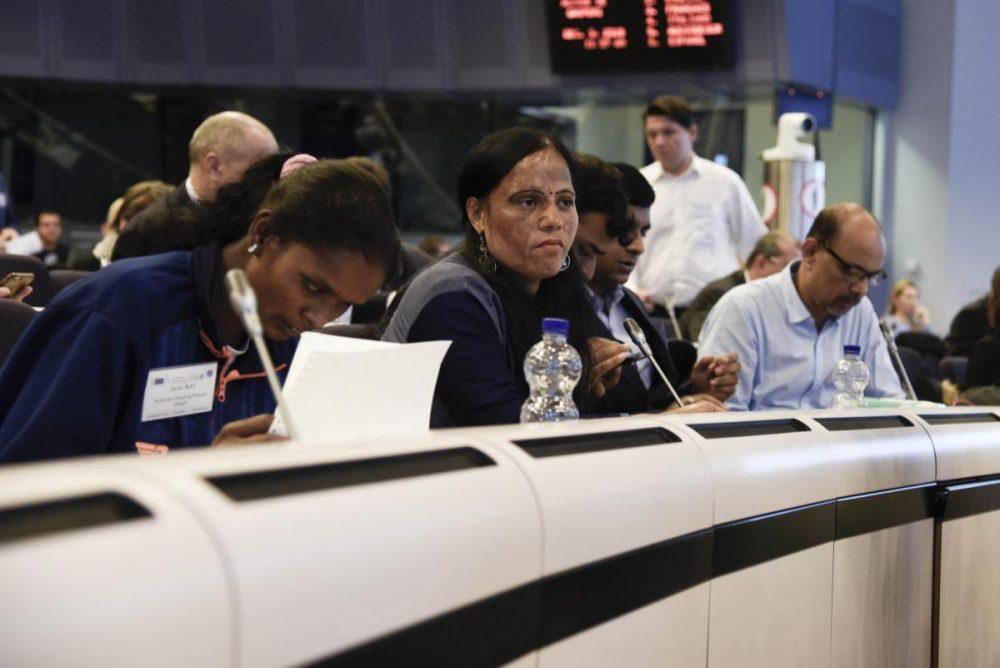 Indian delegation at panel
