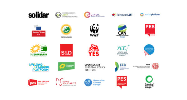 25 logos of the organizations that have signed the statement